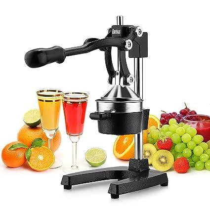 Excelvan - Exprimidor manual de Frutas, de Palanca profesional, Licuadora de Acero inoxidable (