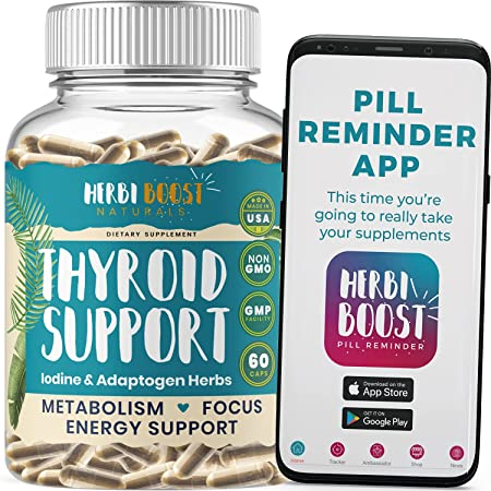 Thyroid Support for Women with Iodine ǀ 1069mg Extra Strength Supplement for Metabolism, Energy, Focus, Fatigue, Stress Relief with Ashwagandha, L-Tyrosine, Zinc, Selenium & More