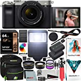 Sony a7C Mirrorless Full Frame Camera Alpha 7C Body with 28-60mm F4-5.6 Lens Kit Silver ILCE7CL/S Bundle with Deco Gear Case