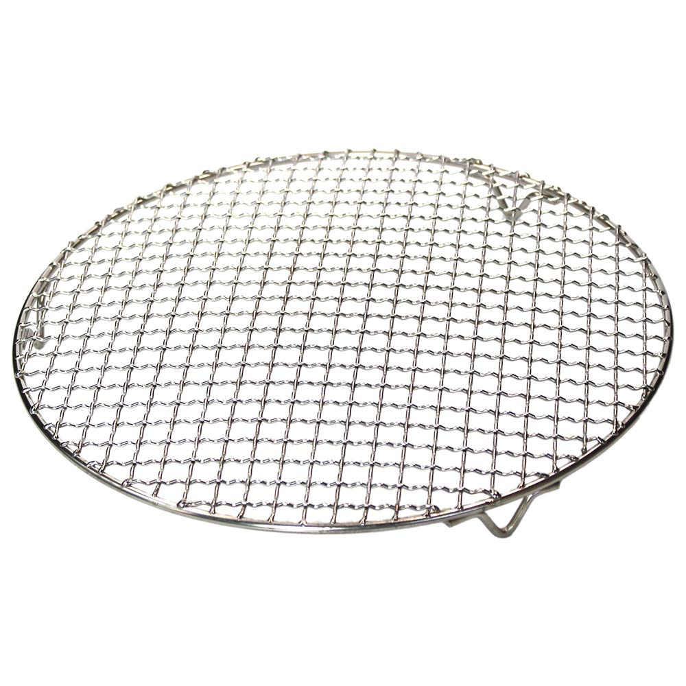 M-Aimee 1Pack Multi-Purpose Round Stainless Steel Cross Wire Steaming Cooling Barbecue Racks/Carbon Baking Net/Grills/Pan Grate with Legs (Diameter 12 Inches)