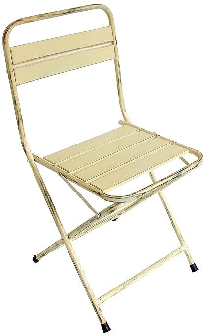 Merveilleux NACH Th 4471 C Cream Vintage Folding Chair