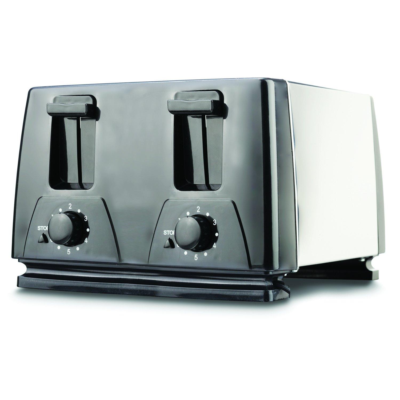 Amazon.com: Brentwood TS-284 4 Slice Toaster, Black: Kitchen & Dining