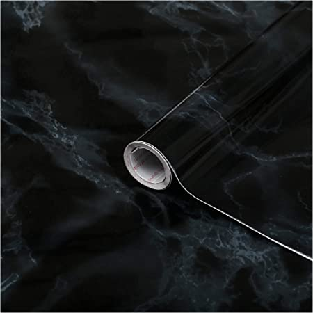 Black Marble 67.5cm x 2m d-c-fix Self Adhesive Sticky Back Fablon Film Sticker