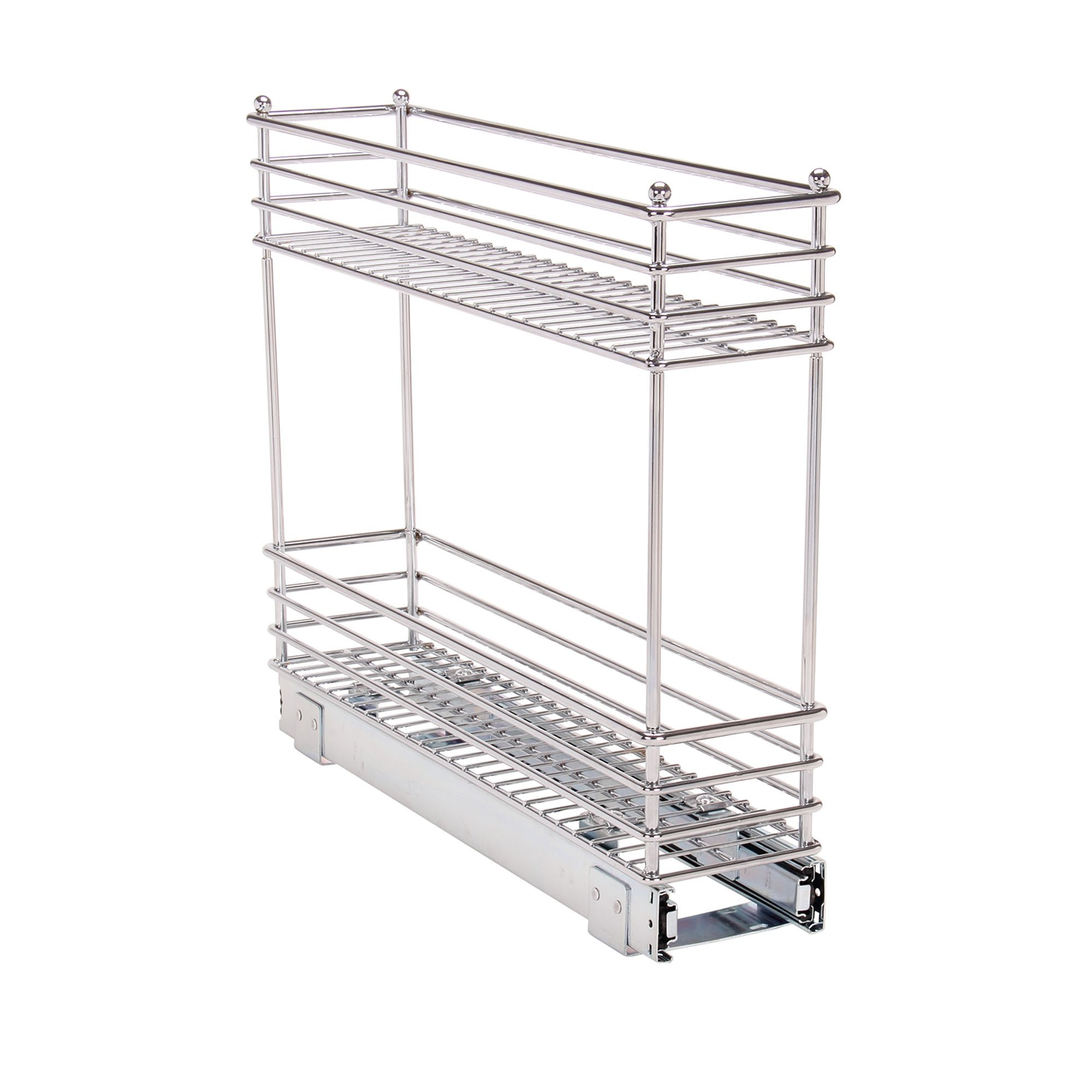 Household Essentials Glidez Narrow Sliding Organizer, 5'', Chrome