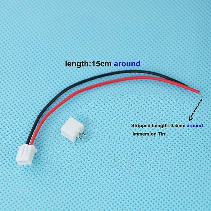 100pcs 15cm JST XH2.54-2P 2.54mm Pitch 2 Pin Connectors Kit Cable ...