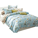 Uozzi Bedding 3 Piece Duvet Cover Set King, Reversible Printing with Brushed Microfiber, Lightweight Soft, Comfortable , Durable (Light Blue, King)