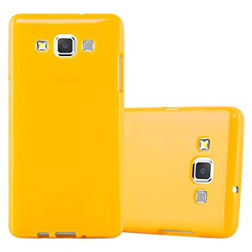 Cadorabo Funda para Samsung Galaxy A5 2015 en Jelly Amarillo - Cubierta Proteccíon de Silicona TPU Delgada e Flexible con Antichoque - Gel Case Cover ...