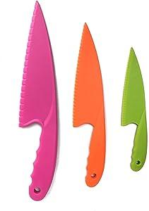 Plastic Kid Knives For Kids Toddler Children Cooking Safe Kitchen Knife Set For Cutting Lettuce Knife Salad Knives