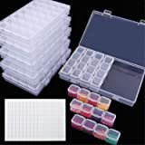 SGHUO 168 Slots 6 Pack 28 Grids Diamond Painting Boxes Plastic Organizer 5D Diamond Embroidery Accessories Storage…