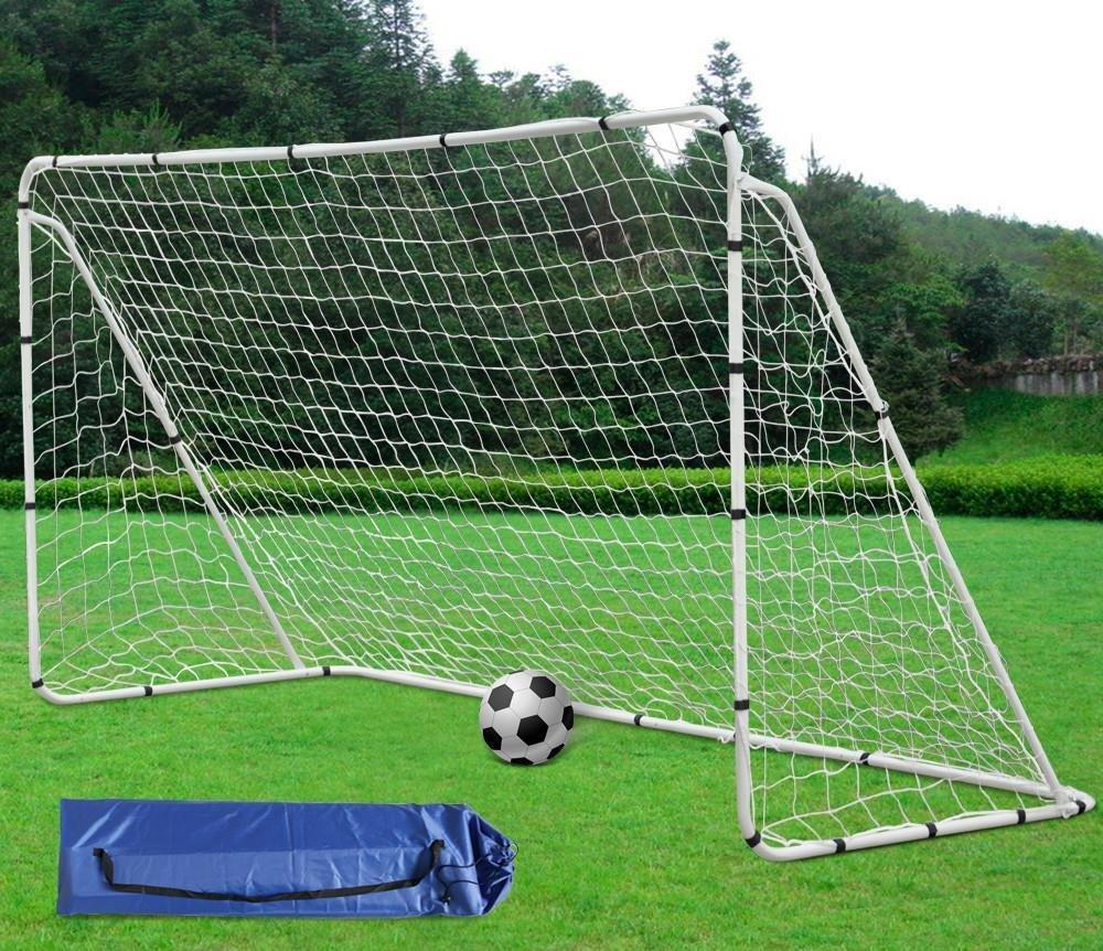 Yaheetechポータブルサッカーフットサル目標12 x 6 ftインドア/アウトドアregulation Soccer Nets withスチールPost for Kids / Adult B0796RZCYW