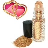 Black Bamboo Beauty Golden Shimmer Body and Face Micro-Fine Long-Lasting Glitter Roll-On - Safe to Use On Lips, Near Eyes and Body - No plastics or artificial ingredients