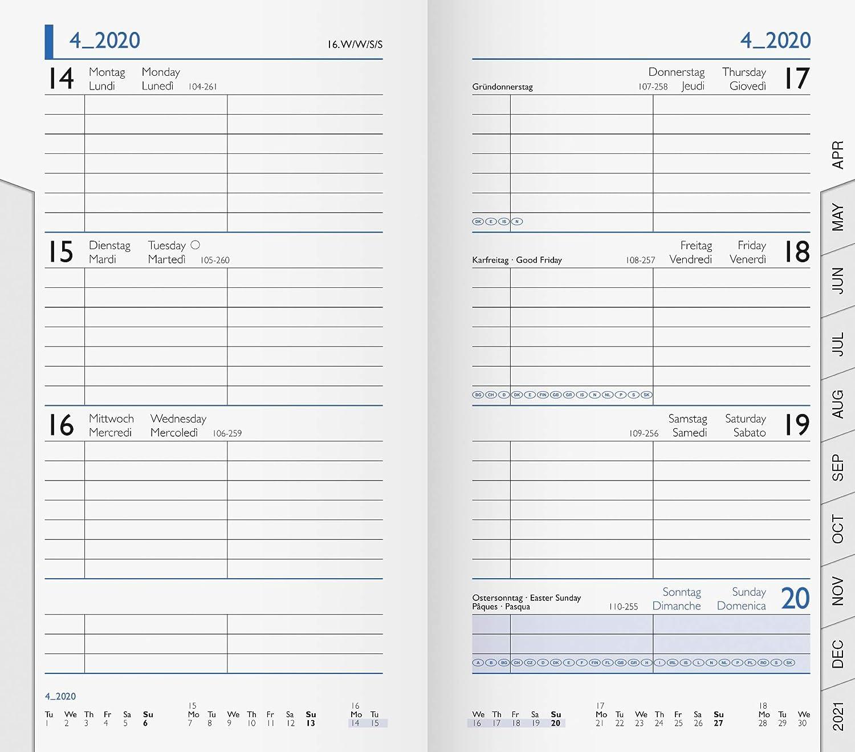 Brunnen Kalendereinlage 9x15cm 1Monat//2Seiten 2021