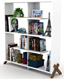 Home Canvas KIPP Made In Turkey Modern Book Shelve Living Room Furniture Book Shelf (White-Walnut)