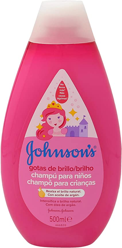 Johnsons Baby Gotas de Brillo Champú para Niños, Cabellos más Brillantes, Suaves y Sedosos - 500 ml: Amazon.es: Belleza