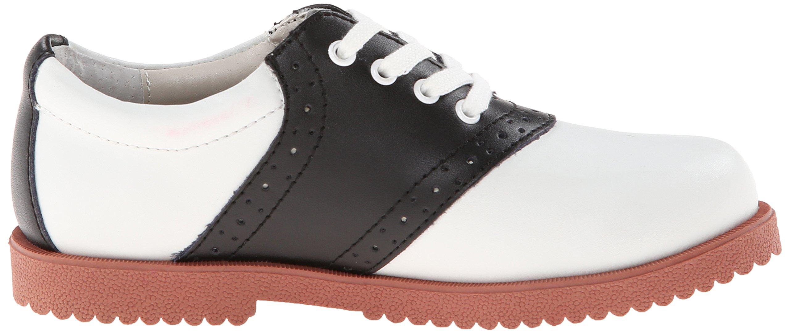 Academie Gear Honor Roll Saddle Shoe (Toddler/Little Kid/Big Kid),White/Black,4 W US Big Kid by Academie Gear (Image #7)