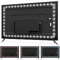 TV Backlight USB LED Strip Lights for 50-55 inch TV Bias Lighting - 11.5ft RGBW 6500K Pure Daylight White TV Light Strip…