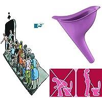 2X Urinoir Femme en Silicone Urine Debout Femme Portable Pliable Réutilisable Feminine Urinal Urine Voyage Réutilisable