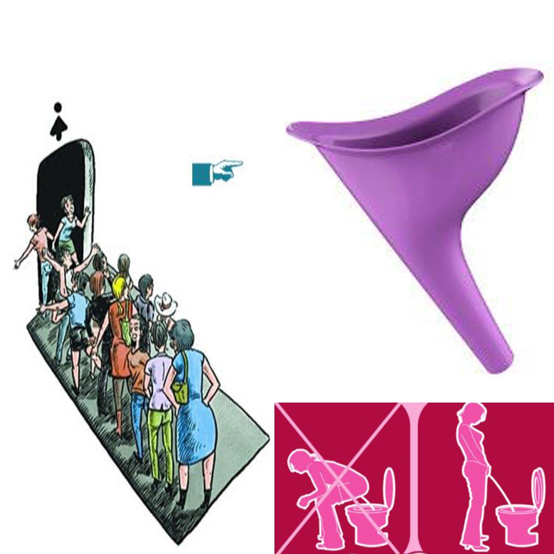2X Urinario Femenino Urine Female Dispositivo de Urinación Orina Orinar de Pie Portátil Mujer Viajar Camping Senderismo Servicios Baños Públicos, Púrpura Istloho