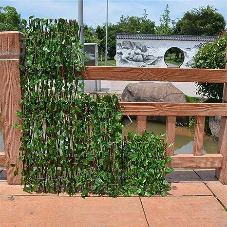 LyhomeO Planta De Setos Artificiales, Plástico Césped Falso Planta Verde Cobertura, Decoración De La Cerca Privacidad del Jardín: Amazon.es: Hogar