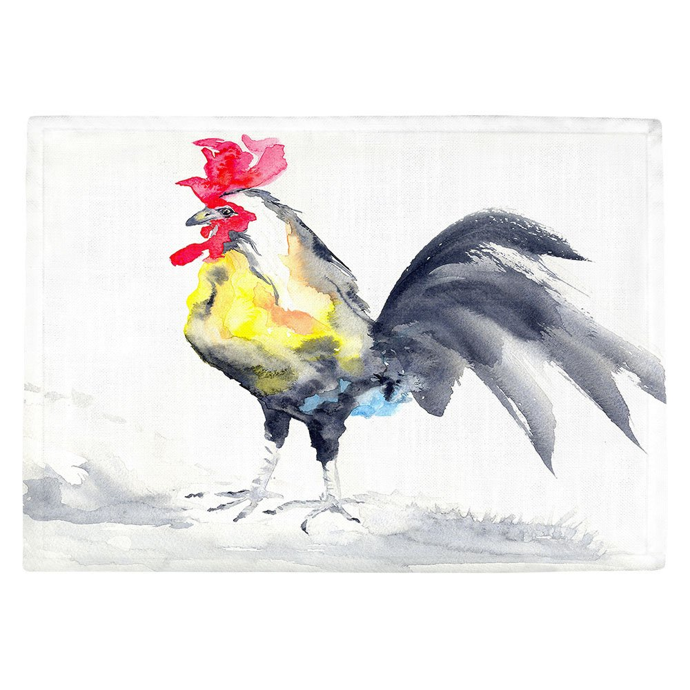 DIANOCHEキッチンPlaceマットby Artist BrazenデザインStudio – Cockrel Rooster Set of 4 Placemats PM-BrazenDesignStudioCockrelRooster2 Set of 4 Placemats  B01N8T742T