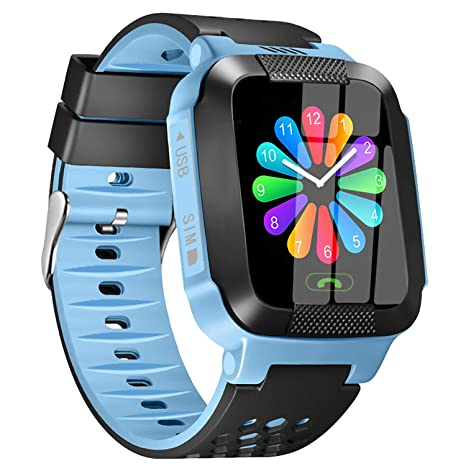 [SIM CARD GIFT]Kids Smart Watch, Real-time Tracking 3-12 Kids Gifts, Cellphone Smartwatch, Color Touchscreen with Two Way Call & SOS & Camera & ...