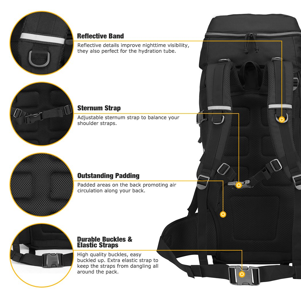Mardingtop 50//60 Liter Erwachsene Taktischer Trekkingrucksacke Rucksack Outdoor Wanderrucks/äcke