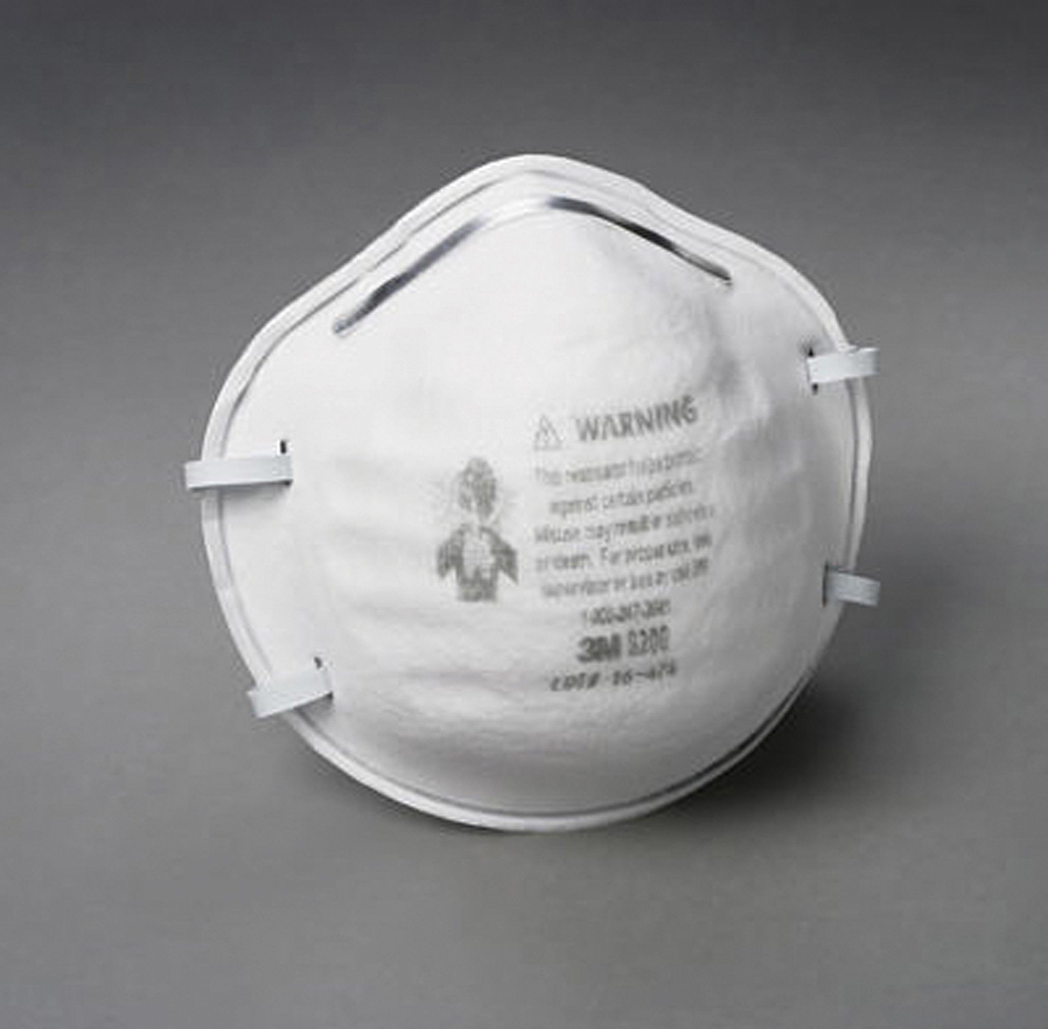 3M OCS8200 White Dust Respirator (Case of 160)