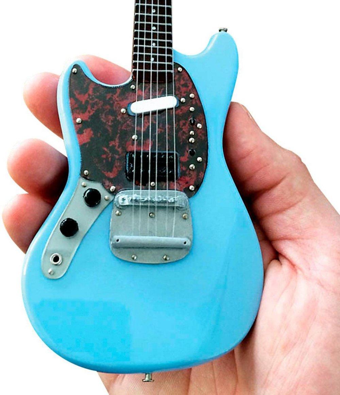 Axe Heaven FM-001 Fender Mustang Sonic Blue Mini Guitar Replica
