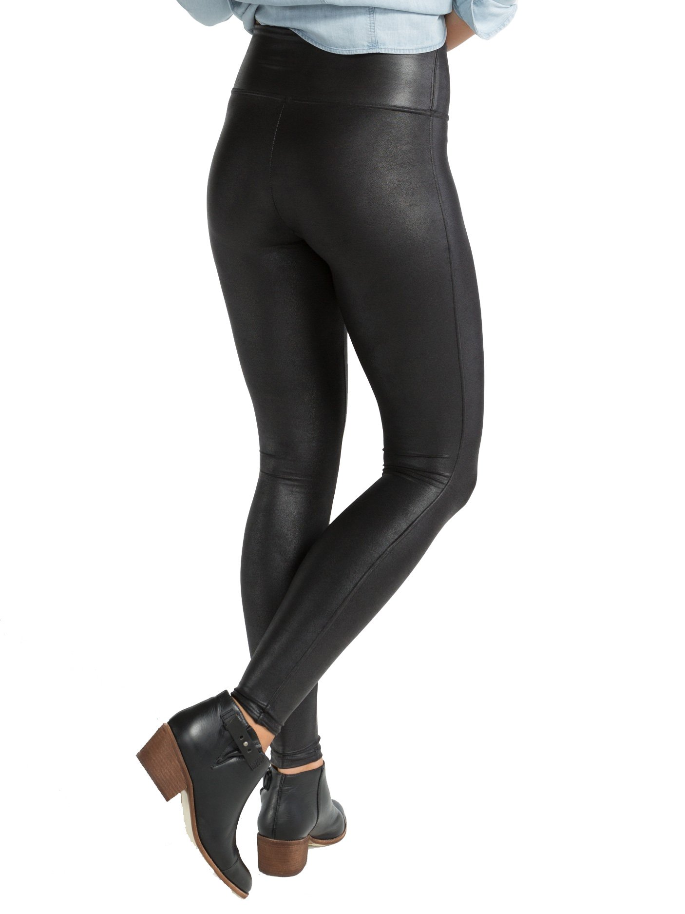 SPANX Plus Size Ready-To-Wow Faux Leather Leggings, 2X, Black by SPANX (Image #2)