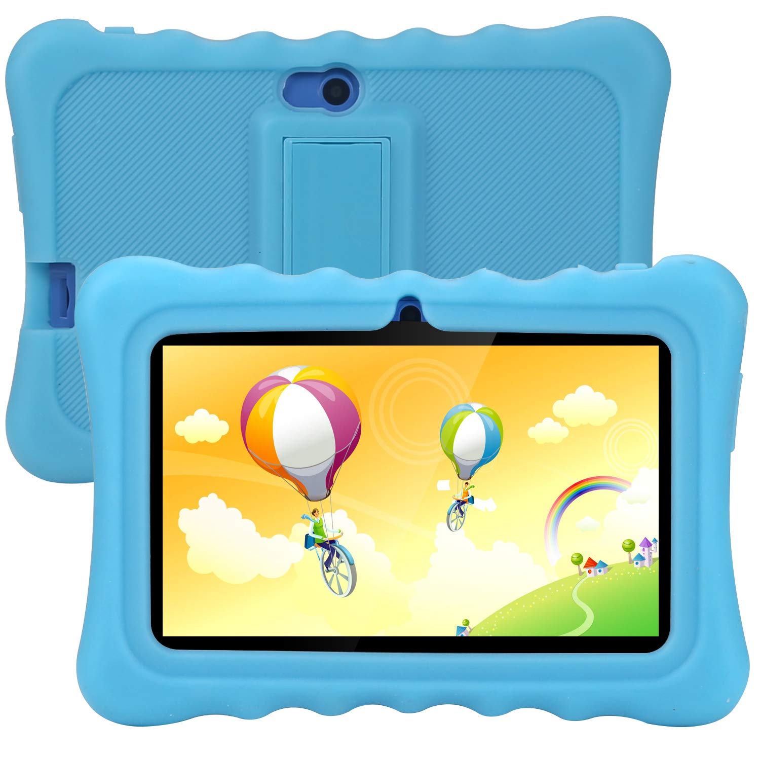 Tagital T7K Plus Kids Tablet, 7 inch Display, Kids Mode Pre-Installed, with WiFi and Camera and Games, HD Kids Edition (Blue)