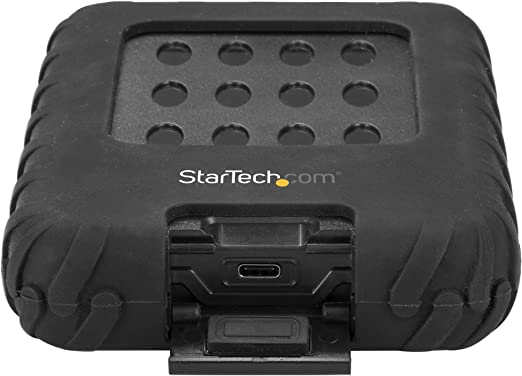USB 3.1 IP65-Rated Enclosure External Hard Drive Case StarTech.com 2.5 SATA SSD//HDD Hard Drive Enclosure 10Gbps S251BRU31C3