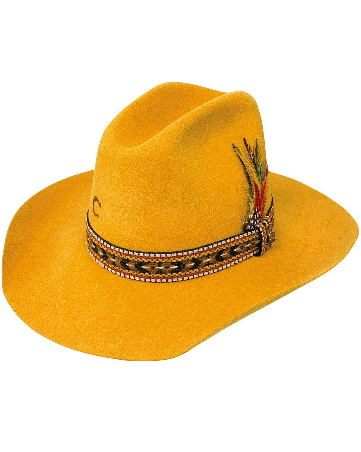 Charlie 1 Horse Women's 5X Saddle Tamp Hat Yellow X-Large