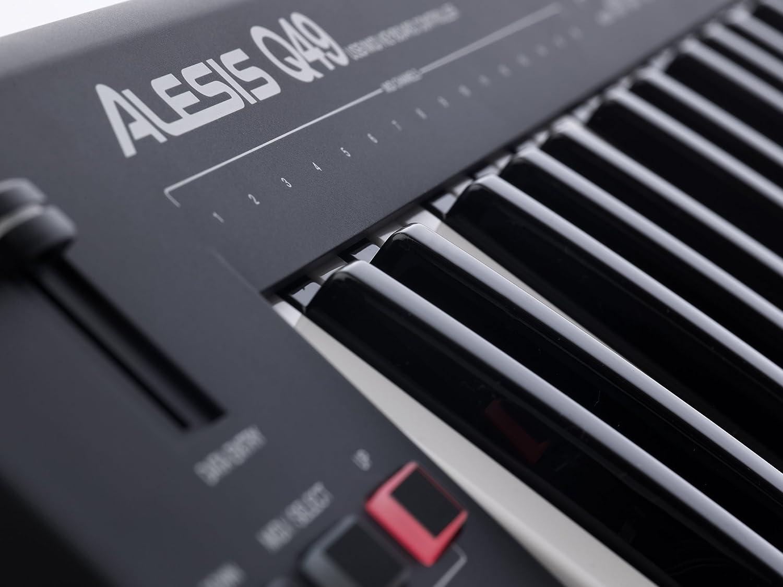 Software Ableton Live Lite /& Ignite Alesis Q49 Tastiera Controller USB MIDI con 49 Tasti Sensibili alla Dinamica