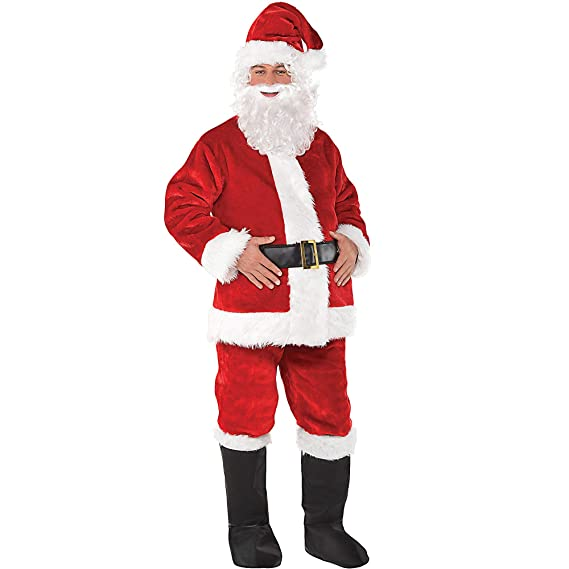Amazon.com: Disfraces EE. UU. Regal Papá Noel Suit Disfraz ...