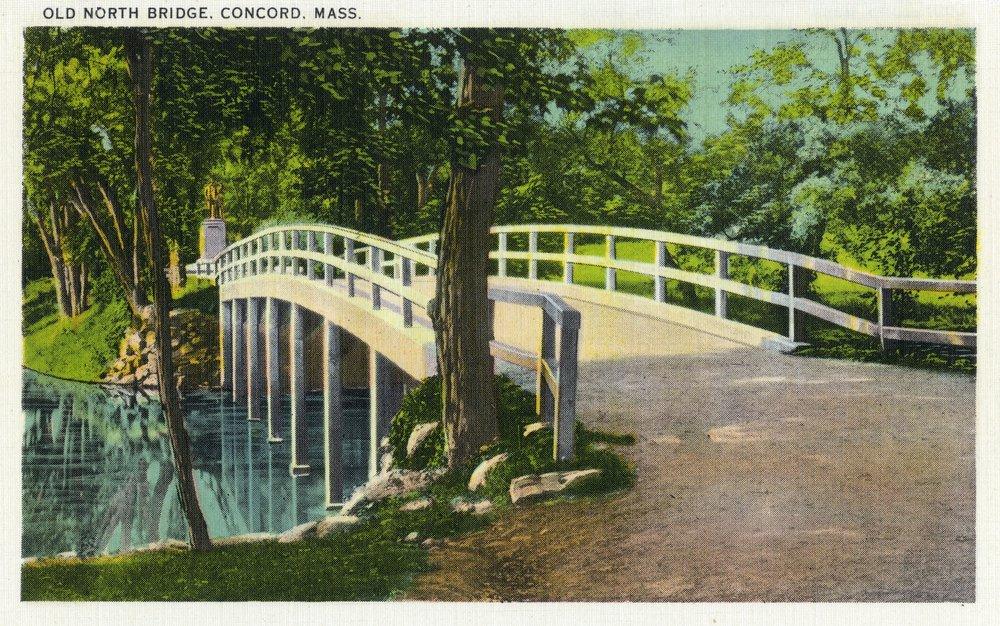 コンコード、マサチューセッツ州 – ビューの古いノースブリッジ 36 x 54 Giclee Print LANT-18305-36x54 B01MG3RH6K  36 x 54 Giclee Print