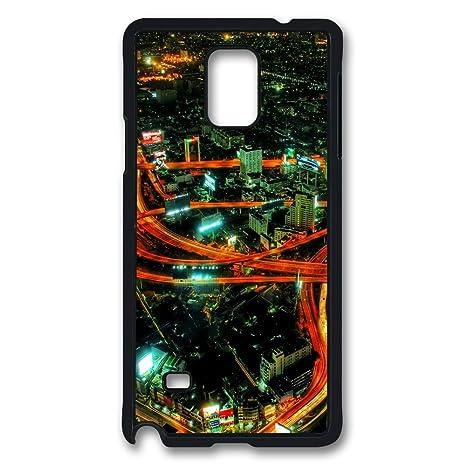 Sun vigor Samsung Galaxy Note 4 Case autopistas Noche duro ...