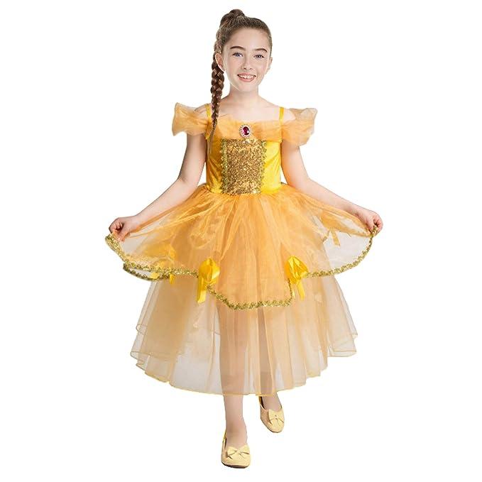 Pettigirl - Disfraz de Princesa con Vestido de jazmín Belle ...