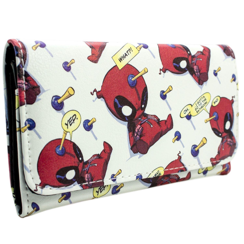 Marvel Deadpool Chibi Bolle Quota bianca portafoglio 28780