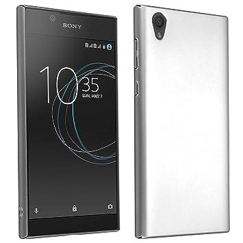 Cadorabo Funda para Sony Xperia L1 en Metal Plato - Cubierta Protección de Plástico Duro Super Delgada e Inflexible con Antichoque - Case Cover ...