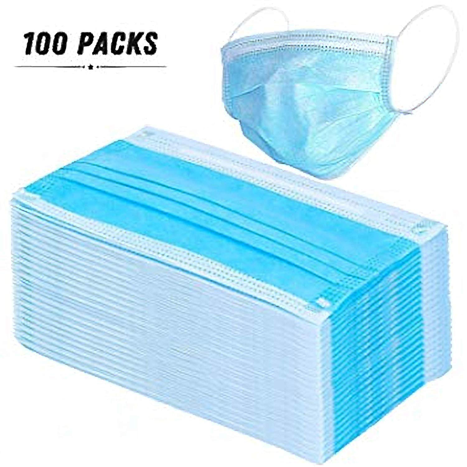 Blue mishen Disposable 3-Layer Face Shield