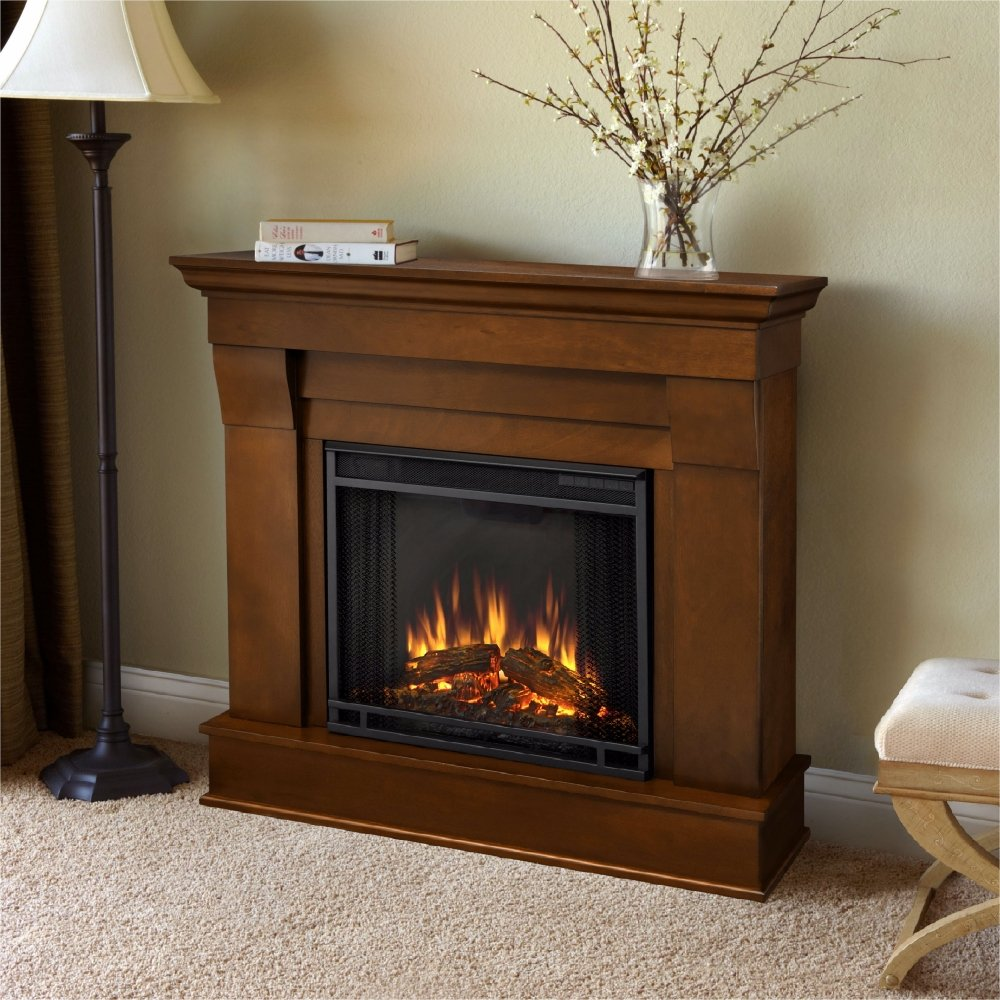 amazoncom chateau electric fireplace in espresso finish home u0026 kitchen - Electric Fireplace With Mantel