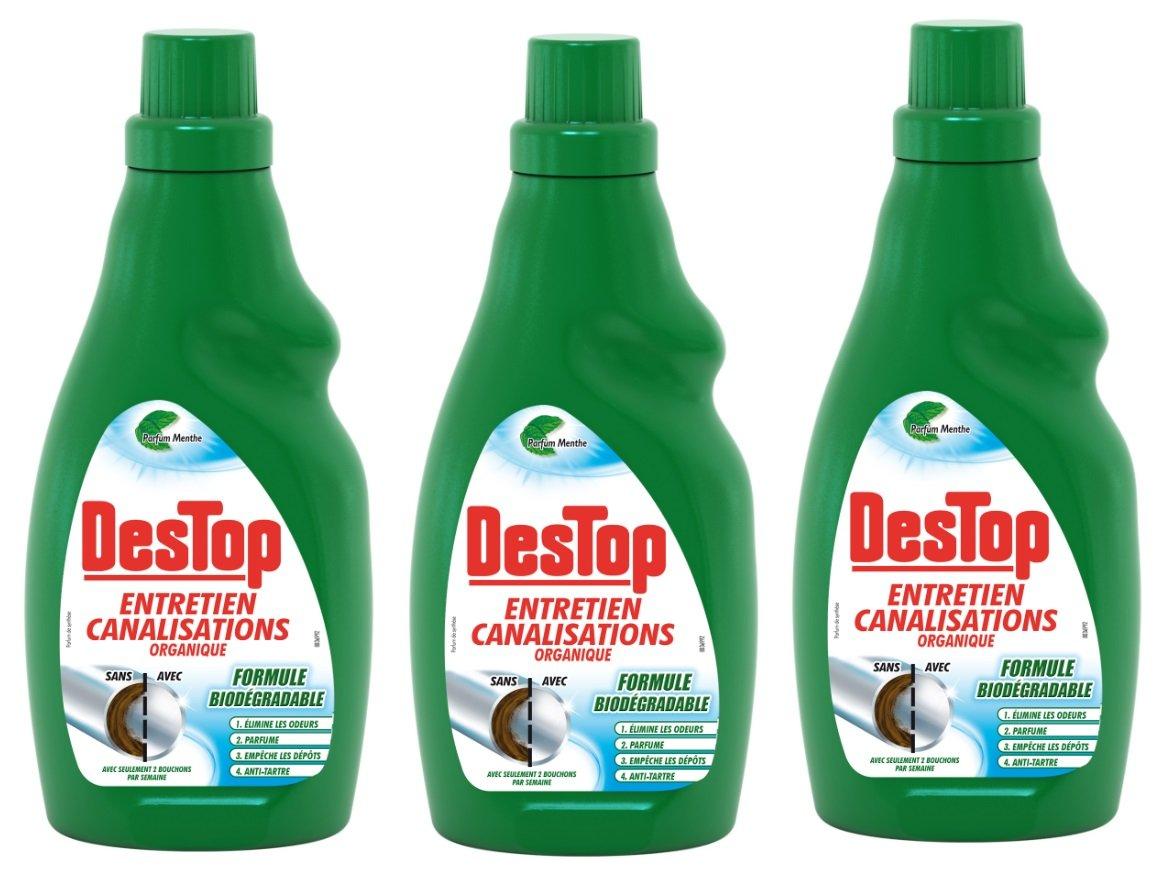 Bonne Odeur Dans La Salle De Bain ~ destop entretien canalisations gel organique menthe eucalyptus 750