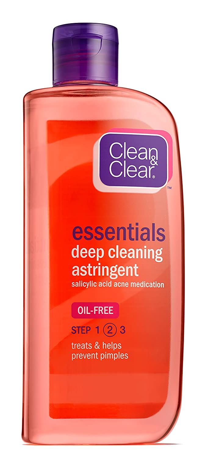 Clean & Clear ESSNTIALS Deep Cleaning Astringent, 8-Ounce (Pack of 2)