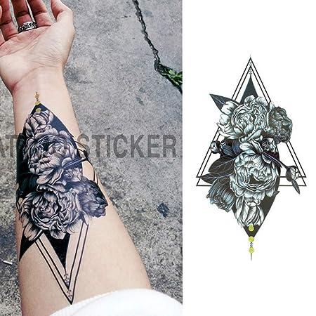 adgkitb 3 Piezas Piezas/pequeño Brazo Lleno de Flores Tatuaje ...
