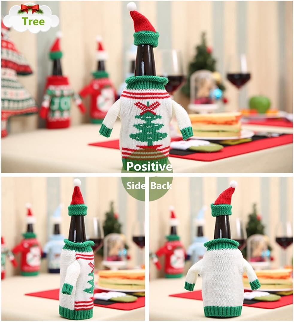 zjchao Jersey para Botella de Vino para, 2 pcs Navidad Patrón ...
