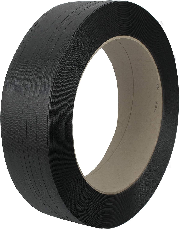 Dicke 0,65mm Breite 16mm gepr/ägt erka PP Umreifungsband 2118N 406mm Kern