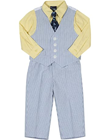 523b4ef70206 Nautica Baby Boys 4-Piece Set with Dress Shirt, Vest, Pants, and