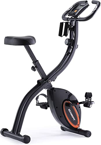 ECHANFIT Indoor Cycling Bike Folding Magnetic Exercise Upright Bike Stationary