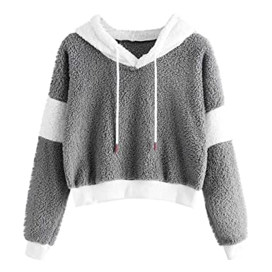 Sueter Invierno Mujer,Absolute Mujeres Solid Fluffy Drawstring ...