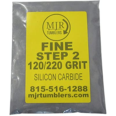 MJR Tumblers 5 LB Fine 120 220 Silicon Carbide Rock Refill Grit Media Stage 2: Toys & Games